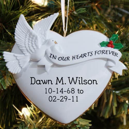 Personalized Memorial Christmas Ornament - Personalized Memorial Chrismas Tree Ornament, Beautiful Holiday