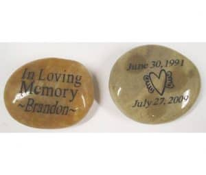 Personalized Memory Stones Engraved with Name, 2 sides