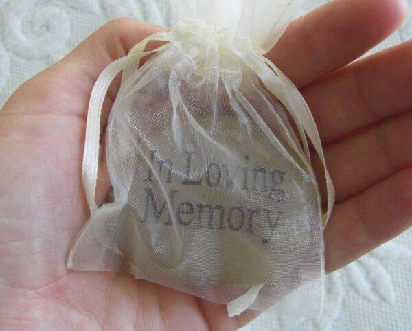 Funeral Memory Stone in Pouch