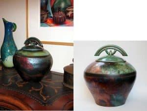 Raku Handmade Ceramic Urn