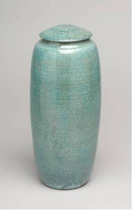 Raku Turquoise Urn