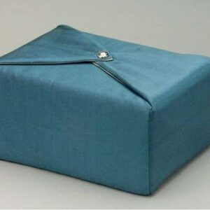 Steel Blue Fabric Urn