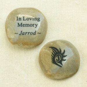 Custom Memorial Stones with Tattoo