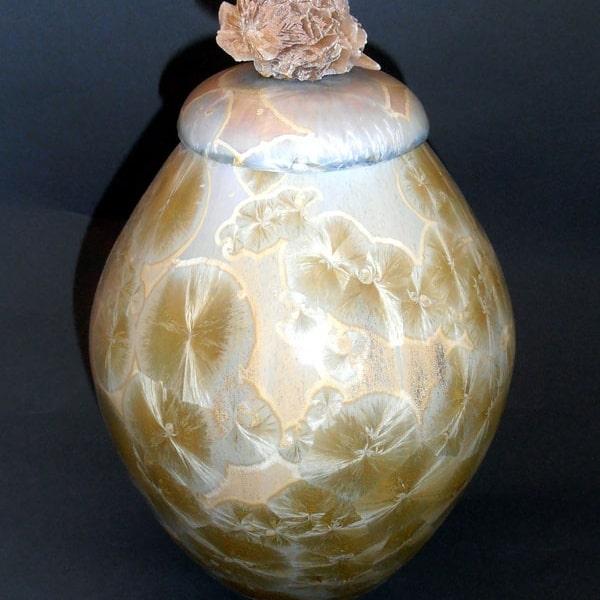 Titanium Ceramic Urn