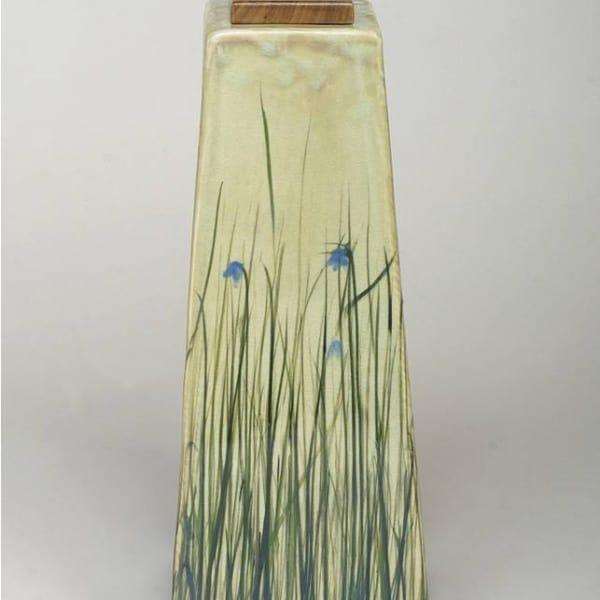 Blue Iris Ceramic Urn