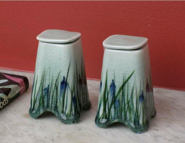 Blue Iris Keepsake Urn