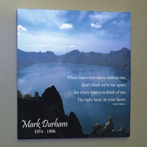Personalized Memorial Nature Photo