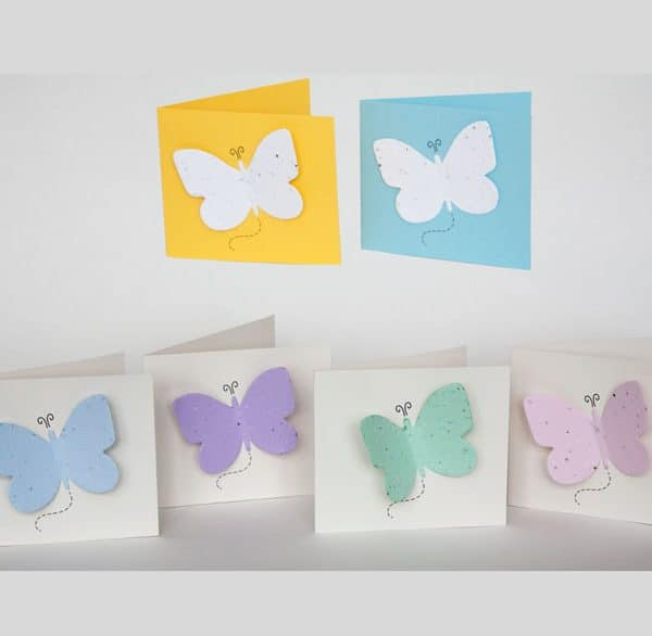 plantable seed memorial card Butterfly Forget-Me-Not and Wildflower Seed Cards