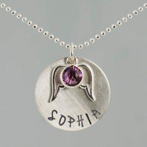 Birthstone Memorial Necklace