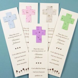 Cross Bookmark Forget-me-not and Wildflower Bookmarks