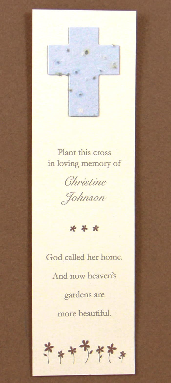 Blue Cross Bookmark