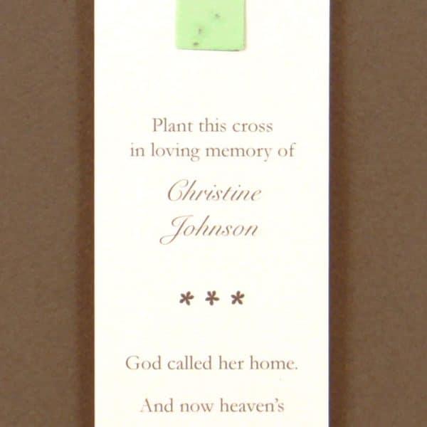 Green Cross Bookmark