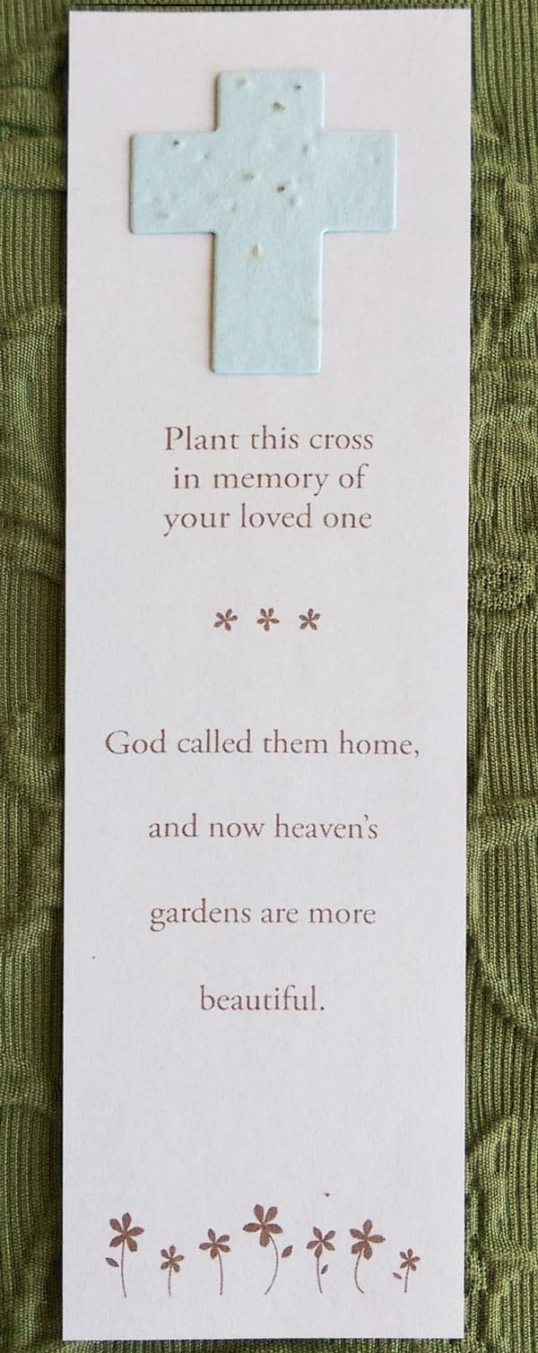 Cross Bookmark with Generic Message