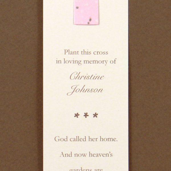 Pink Cross Bookmark