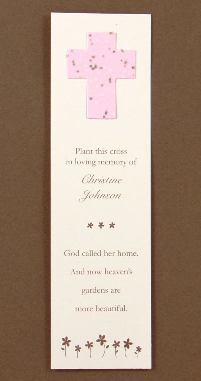 Pink Cross Bookmark