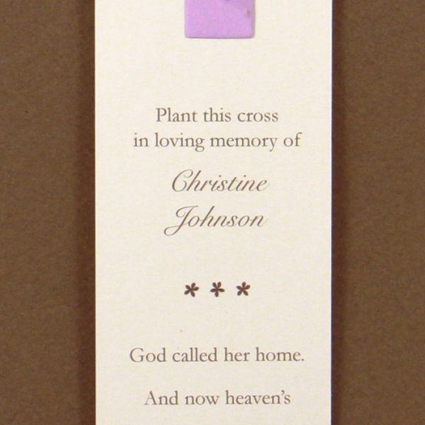 Purple Cross Bookmark
