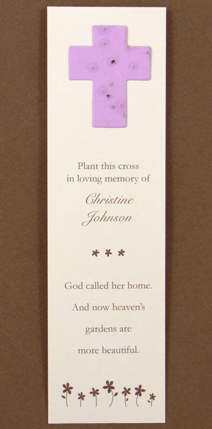 Purple Cross Bookmark