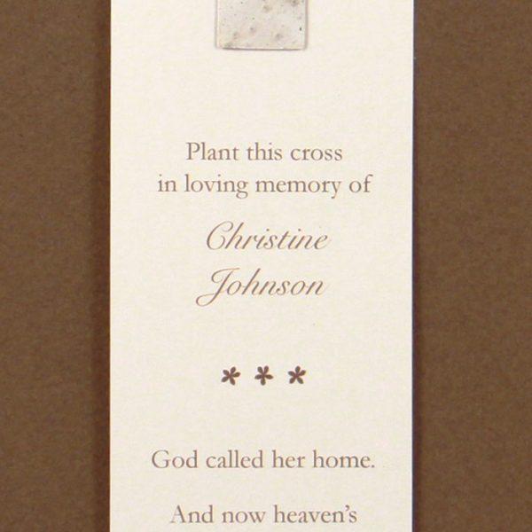 White Cross Bookmark
