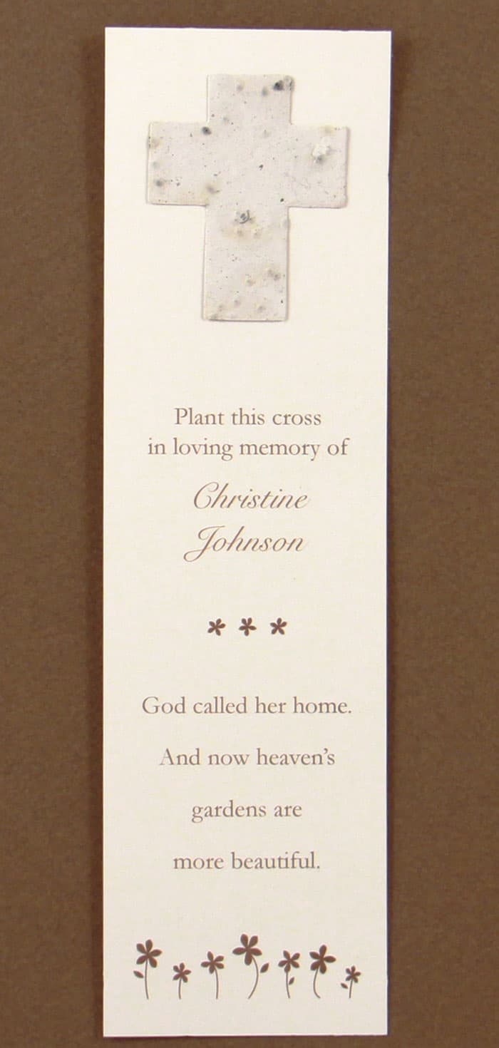 White Cross Bookmark