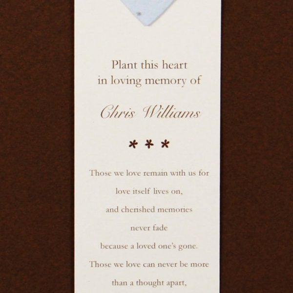 Blue Heart Bookmark