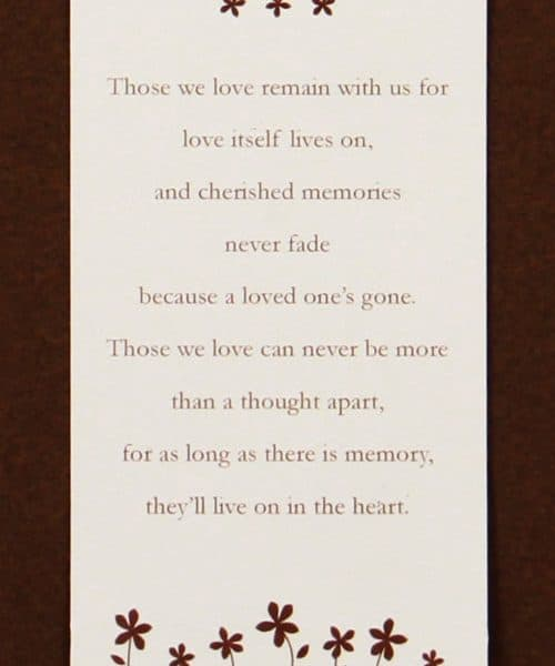 Poem for Heart Bookmark