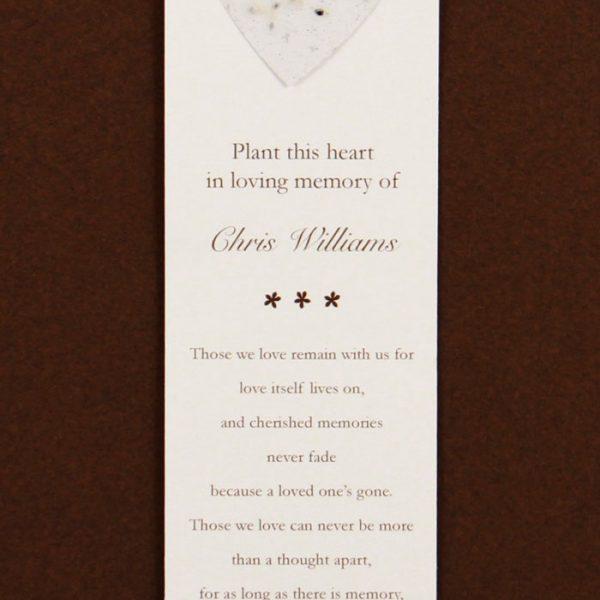White Heart Bookmark