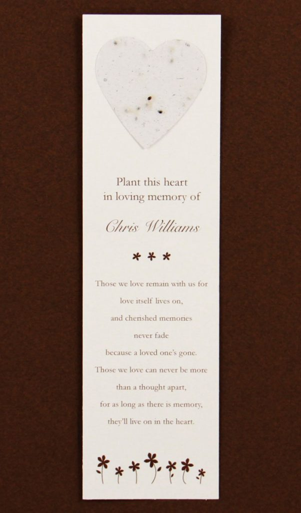 White Heart Bookmark