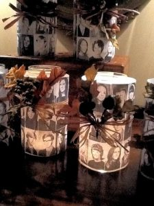 Create candles with photos of the departed classmates.