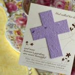 Cross Wildflower Plantable Seed Remembrance Cards