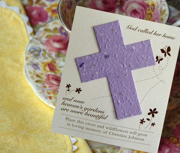 Seed Cards Cross Wildflower Plantable Seed Remembrance Cards