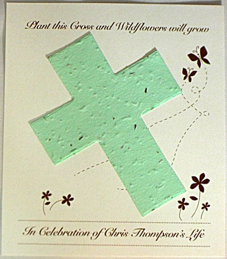 Green Cross Wildflower Plantable Seed Cards