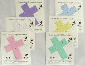 Seed Cards for Funeral Favors