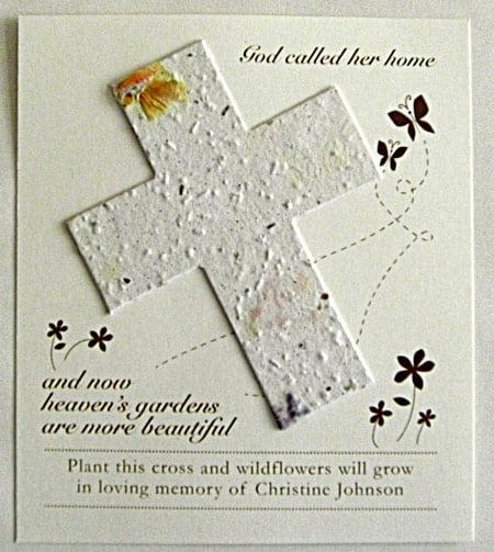 White Cross Wildflower Plantable Seed Cards