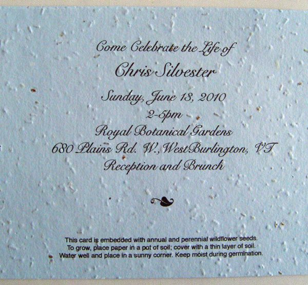 Flat Card Used as an Invitation