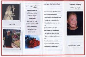 Example memorial program page 2