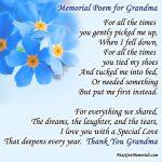 Memorial poem for Grandma