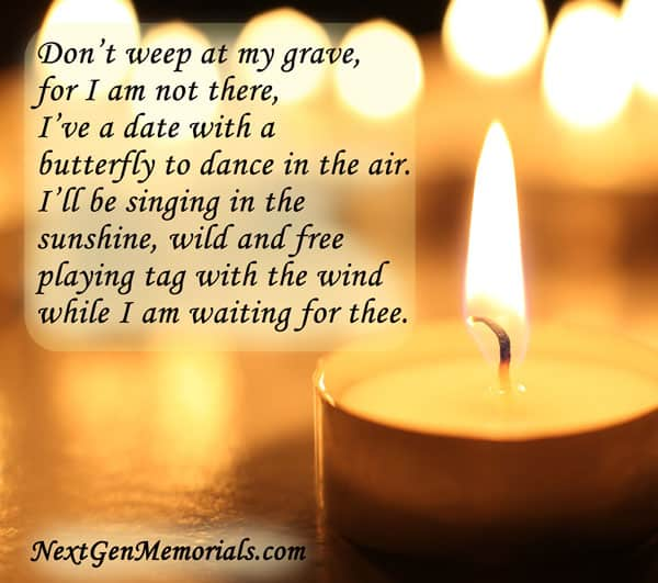 Funeral Poems Memorial Poems To Read At A Funeral