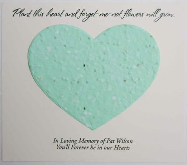Green Heart Forget-me-not Card