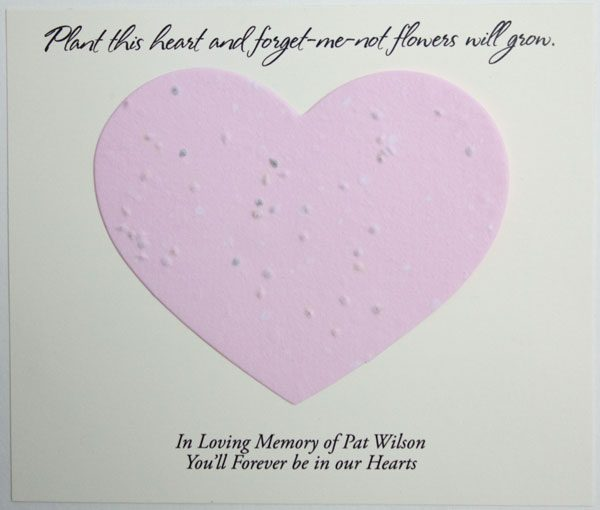 Pink Heart Forget-me-not Card