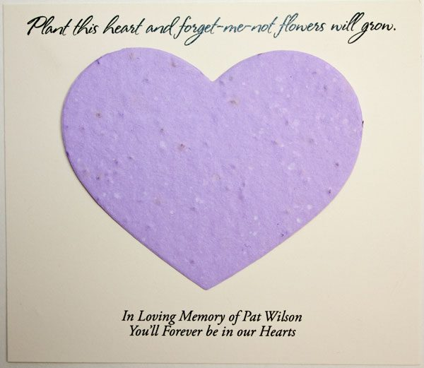 Purple Heart Forget-me-not Card