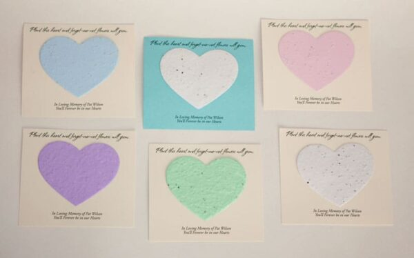 Heart Forget-me-not cards colors