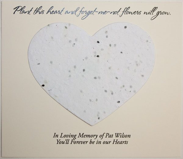 White Heart Forget-me-not Card