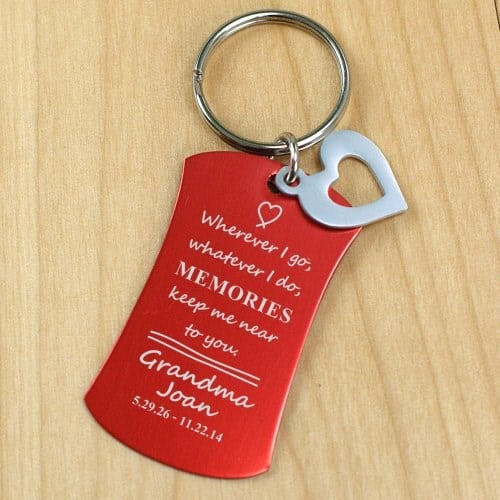 Memorial Key Chain with Heart