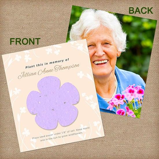 Purple Memorial Flower Photo Card