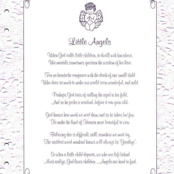 Precious Child Memorial Guest Book Page 1