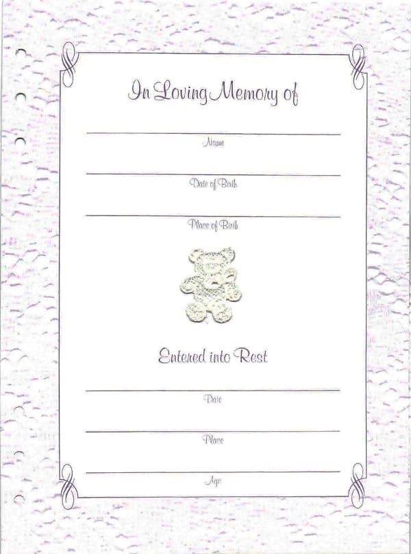 Baby Child Funeral Book Guest Book Funeral Register Book In Blue