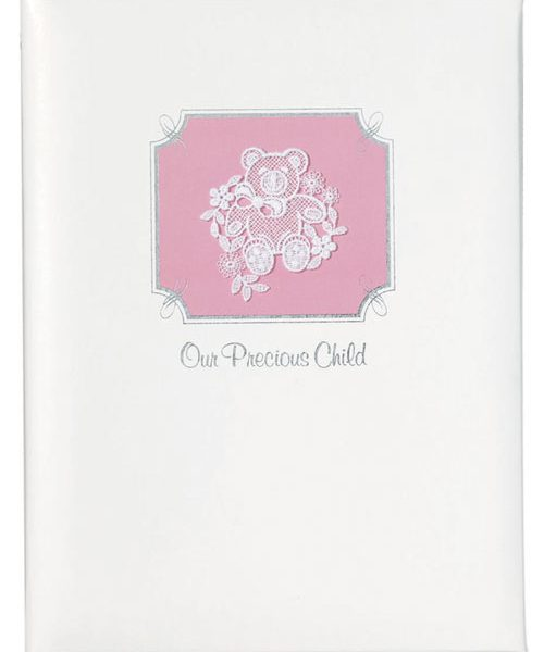Precious Child Memorial Guest Book Pink