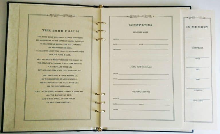 Durango Memory Book Inside Page
