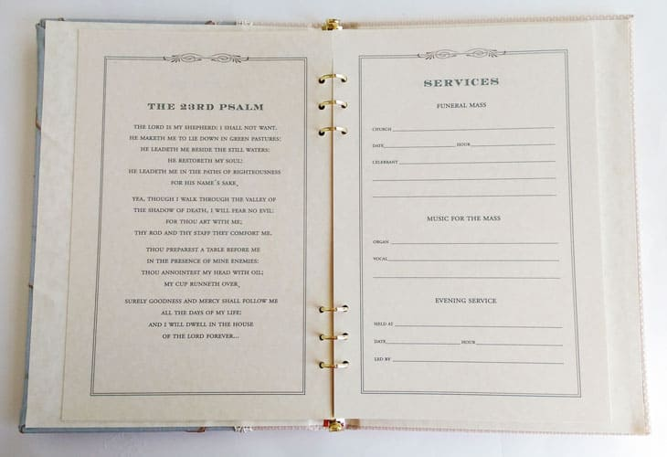 Guest Book Cover Template : Funeral sign in book willow memorial guest