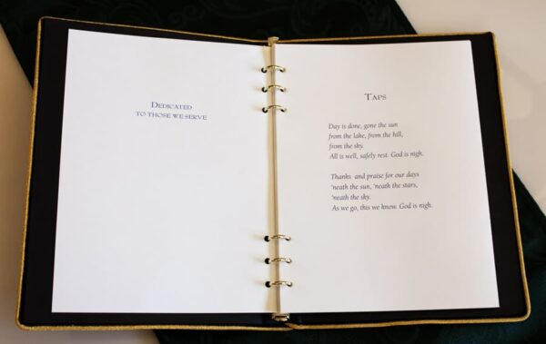 Inside Memorial Guest Book